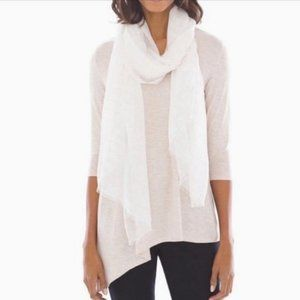 Soma Gold Shimmer Windowpane Scarf  NWT